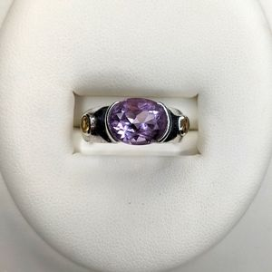 Vintage Amethyst Sterling Silver Ring